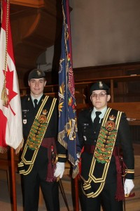 RMR Colour Officers at Church Parade, May 2014