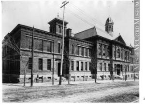 Montreal High School, Peel Street, c1895