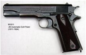 The Canadian Army had no official sidearm during World War I, and officers were expected to buy their own sidearms; this practice continued into the Second World War. The M1911 was a popular choice with many officers.