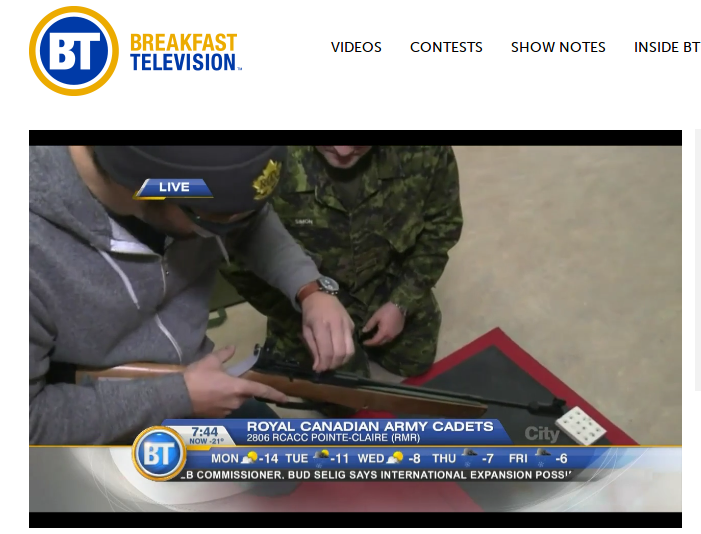 Meet the Royal Canadian Army Cadets   Breakfast Television Montreal