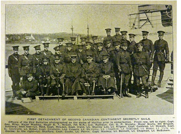 Officers of the 23rd Battalion