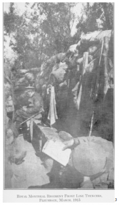 RMR in Front Line Trenches, 1915