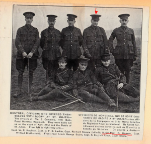 Major Paul Hanson marked with red arrow