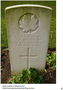 No. 25997 - Private John Patrick Rattigan