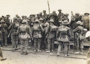 Troops Entering Canadian Light Railroad Trucks After Visiting The Baths. They Have Come From The Reserve Line [3]