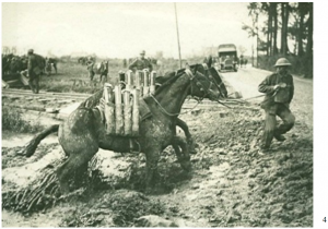 Packing artillery shells to the front