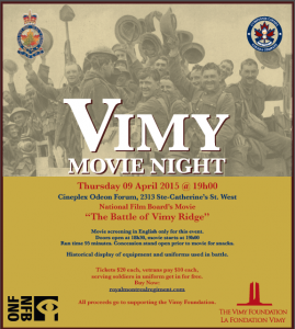Vimy Movie Night Poster