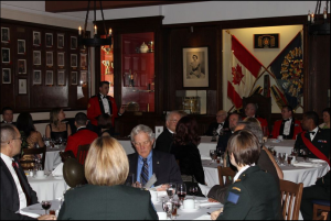 PMC addresses the dinner guests