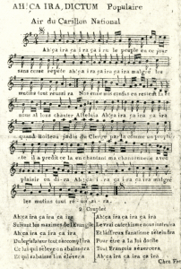 Sheet music for ÇA IRA