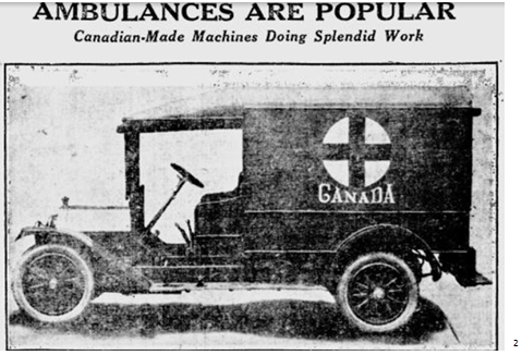 First World War motorized ambulance