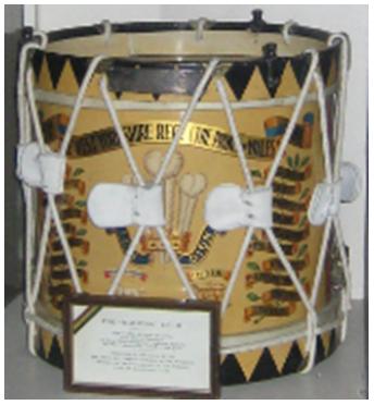 Battle of Waterloo drum