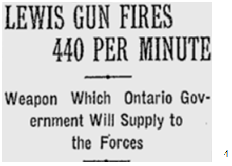 Weapon Which Ontario Government Will Supply to the Forces