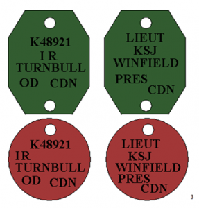 Identification Discs - First World War