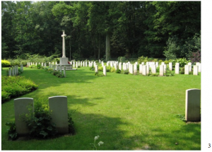 Ploegsteert Wood Military Cemetery was made by the enclosure of a number of small regimental cemeteries