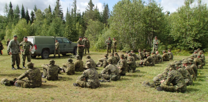 CO addresses the graduating infantry recruits