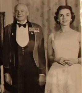 Brigadier Whitehead wearing the RMR pattern mess dress