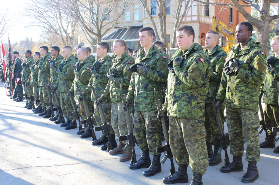 RMR troops on parade, 08 November 2015