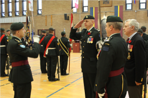 Honorary Lieutenant-Colonel inspecting the troops