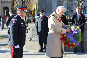 His Worship Peter Trent lays wreath on behalf of Westmount