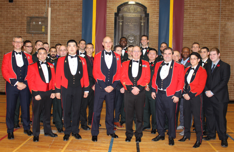 Serving Officers present for their annual dinner