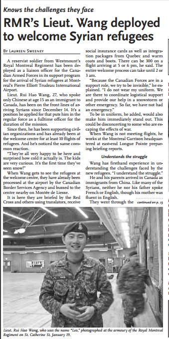 2Lt Wang featured on page 19
