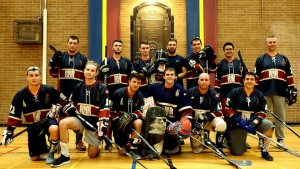 Photo of the RMR ball hockey team from winter 2015
