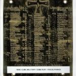 Nine Elms Military Cemetery Name Marker