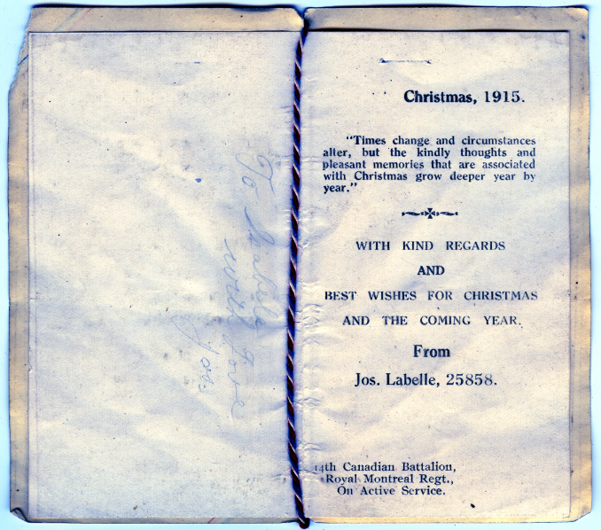 Labelle_1915 Christmas Card
