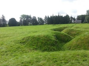 Beaumont-Hamel NFLD Memorial ground preserves today roughly 1km of the 40km trench line