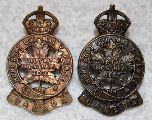 14th Batt. badges