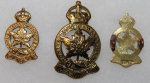 other ranks insignia: brass, 1930s-1950s