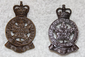 officer bronze badges, 1950s-1960s