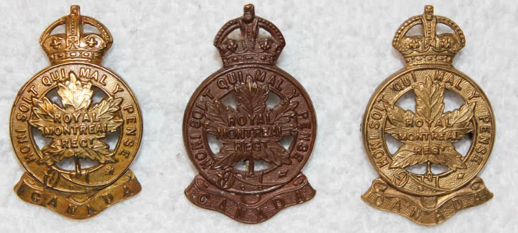 badges of the 14th Battalion, CEF.