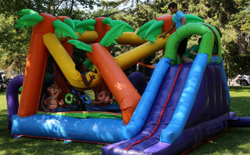 Children of the RMR Family enjoying themselves on the Bouncy Castle