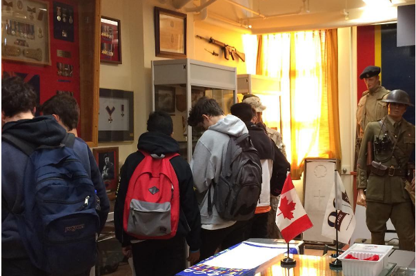Westmount High students touring the RMR Museum