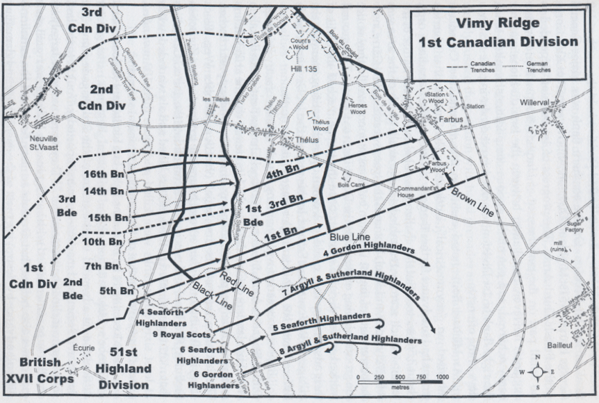 Map Of France Vimy.Regiments On The Ridge Vimy 100 Years On The Royal Montreal Regiment
